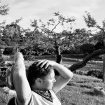 Stina Grønbech fotograf tromsø sorthvitt bw pause organic farm
